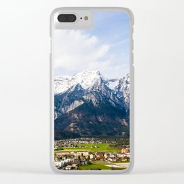 Village Beneath the Mountain Clear iPhone Case