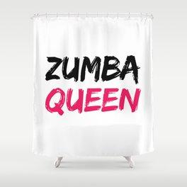 Zumba Queen Shower Curtain