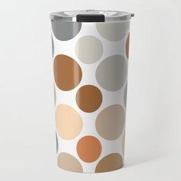 Earth Tone Circlular Abstract Travel Mug