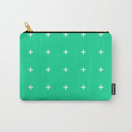 PLUS ((white on emerald green)) Carry-All Pouch