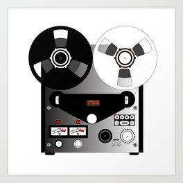Black and White Recorder Art Print