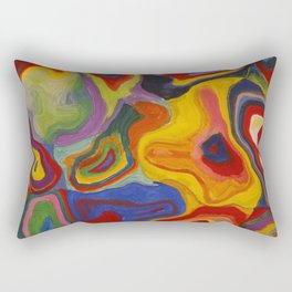 Embedded creation in mind Rectangular Pillow