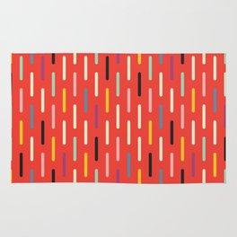 Modern Scandinavian Dash Red Rug