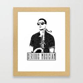 Serious Musician Framed Art Print