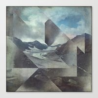 Canvas Prints featuring Mountains Glacier - Cuts by Dirk Wuestenhagen Imagery