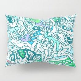 Kamasutra LOVE - Sea Blue Green Turquoise Min Pillow Sham