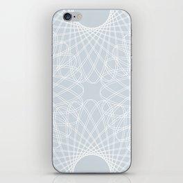 mathematical rotating roses - ice gray iPhone Skin