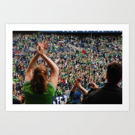 All as one for the Sounders!! Art Print