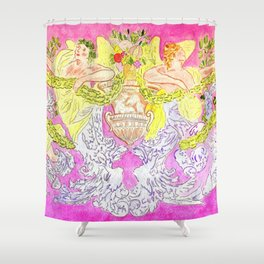 ITALIAN GARDENS PILLOW Shower Curtain