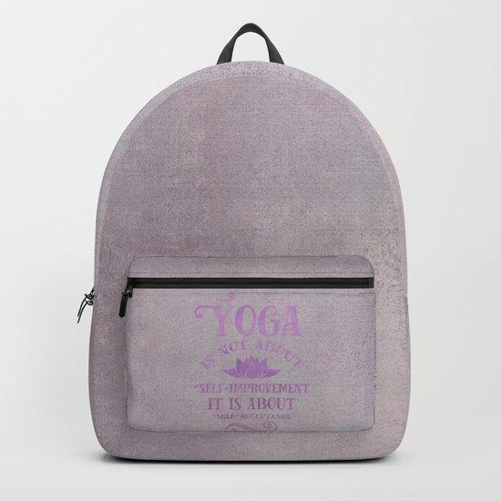 Yoga Philosophy Typography Art Backpack
