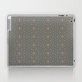 Going round and round - Orange/Taupe/Teal Laptop & iPad Skin