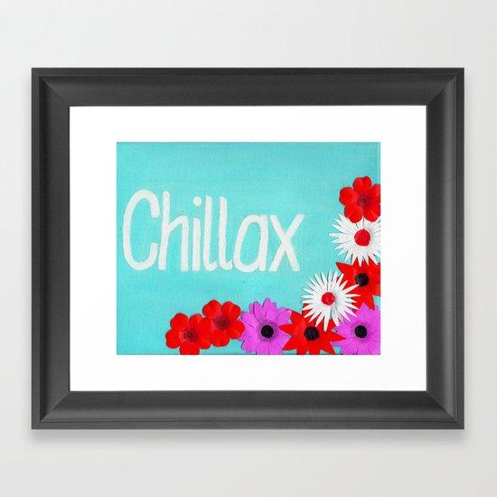 Chillax - Cyan Framed Art Print