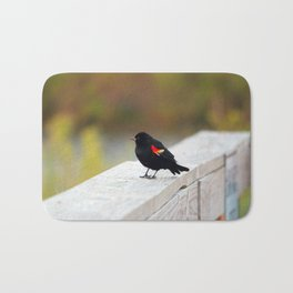 Red Winged Blackbird Bath Mat
