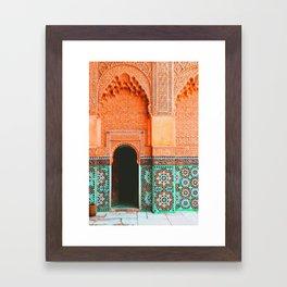 marrakech doorway Framed Art Print