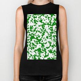 Spots - White and Green Biker Tank