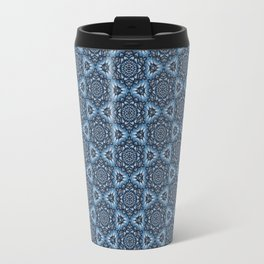 Blue Snowflake Pattern Travel Mug