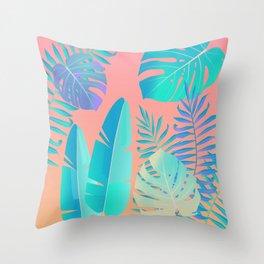 Tropics ( monstera and banana leaf pattern ) Throw Pillow