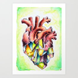 Crystal Heart Art Print