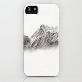 mountain range pencil art iPhone Case