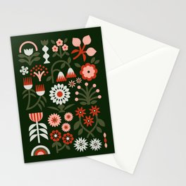 Winter Wrap: Green Stationery Cards