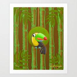 Shy Toucan! Art Print