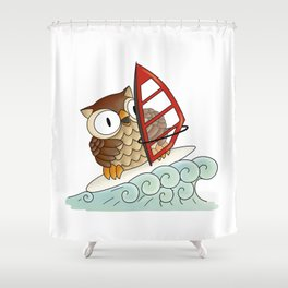 On the crest of a wave Shower Curtain