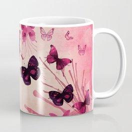 PINK BUTTERFLIES WATERCOLOR Coffee Mug