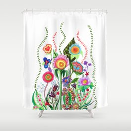 FLOWERS IN MEXICO Shower Curtain