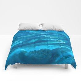 Dramatic Blue Ocean Waves Comforters