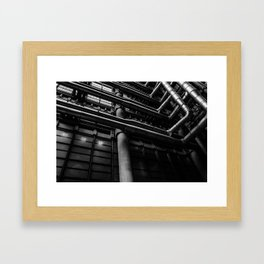 Industrial Pipes Framed Art Print