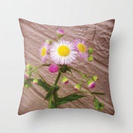 Urban Flower Throw Pillow