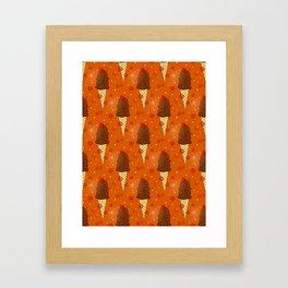 Chocolate Scoops Pattern Framed Art Print