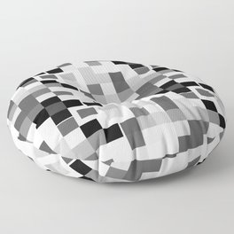 Grayscale Squares Floor Pillow