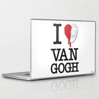 van gogh Laptop & iPad Skins featuring I love Van Gogh by Phil Jones