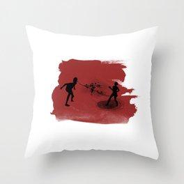 Spitter! Throw Pillow