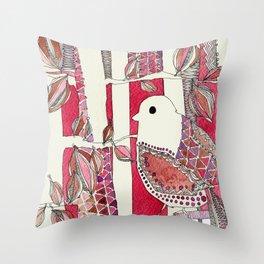 Red Bird Throw Pillow