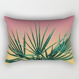 Vaporwave Palm Life - Miami Sunset Rectangular Pillow
