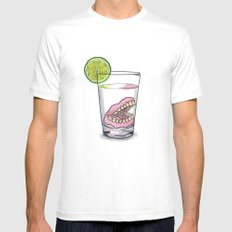 Gin tonic White MEDIUM Mens Fitted Tee