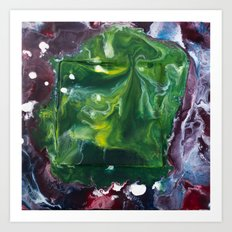 Color Commentary #7: Peggy's Cosmic Goo. (Green & Purple) [Peggy Correl] Art Print