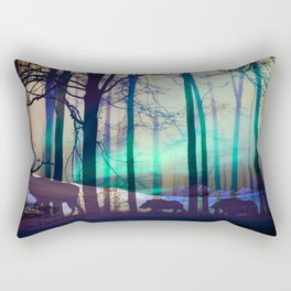 Northern lights abstract Rectangular Pillow