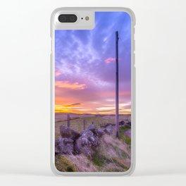 West Lomond Sunset Sky Clear iPhone Case
