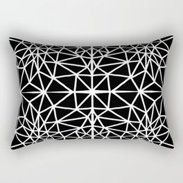 black and white abstract triangle drawing Rectangular Pillow