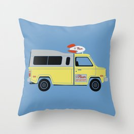 Galactic Pizza Van Throw Pillow