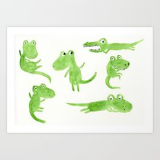 Alligator 2 Art Print
