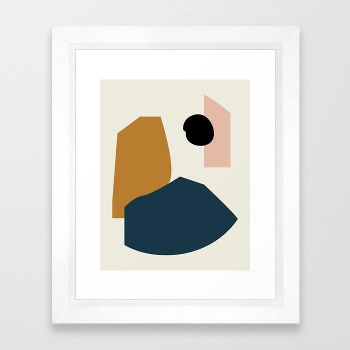 Shape study #1 - Lola Collection Framed Art Print