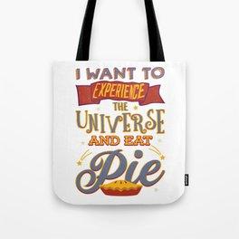 Pie Eating T shirt Tote Bag