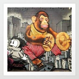 Monkey Biz Art Print
