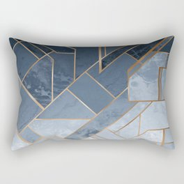 Blue and gold geometric pattern Rectangular Pillow