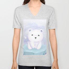 Cute baby polar bear Unisex V-Neck