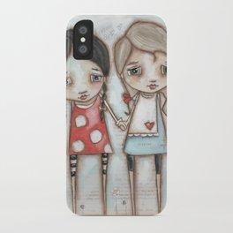 Never Far Away - Sister, Friend, Girlfriend art iPhone Case